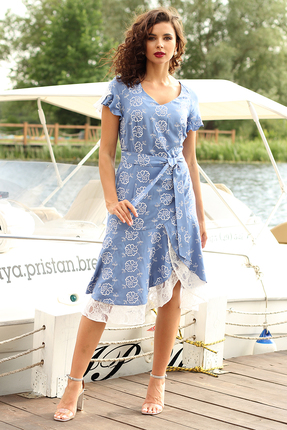 Платье Мода-Юрс 2564 темно-голубой