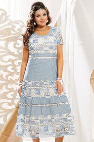 Платье Vittoria Queen 11243 голубой с молочным