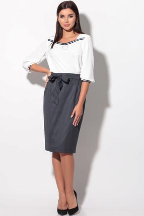 Комплект юбочный LeNata 21110 полоска на синем фото