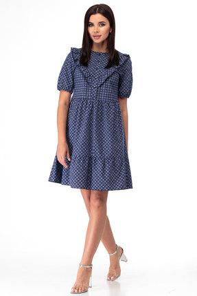 Платье Anelli 835 синий
