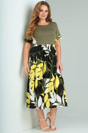 Платье Ollsy 1529 зеленые тона