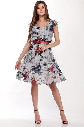 Платье LaKona 1279/1 серый с цветами