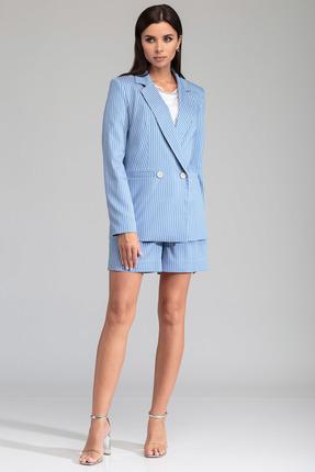 Жакет SandyNa 13804 голубой