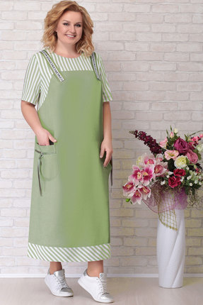 Платье Aira Style 674 зеленый