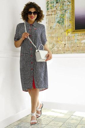 Платье Avanti Erika 1009-1 белый с синим