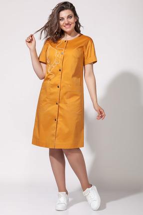 Платье Anna Majewska 1382 оранжевые тона