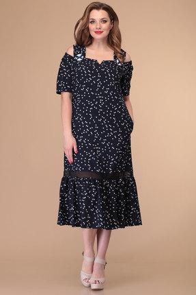 Платье Danaida 1888 темно-синий горох