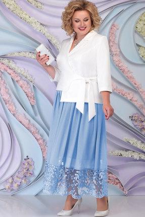 Комплект юбочный Ninele 5794 голубой+белый