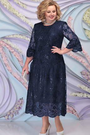 Платье Ninele 7293 тёмно-синий