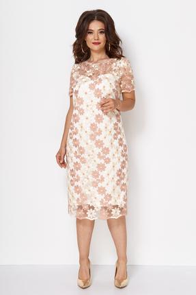 Платье Anastasia Mak 735 пудровый