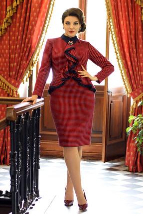 Платье Мода-Юрс 2575 красные тона