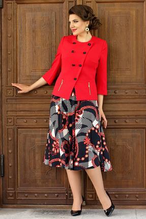 Комплект юбочный Мода-Юрс 2485 красные тона