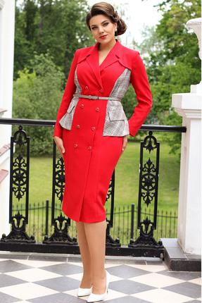 Платье Мода-Юрс 2568 красные тона