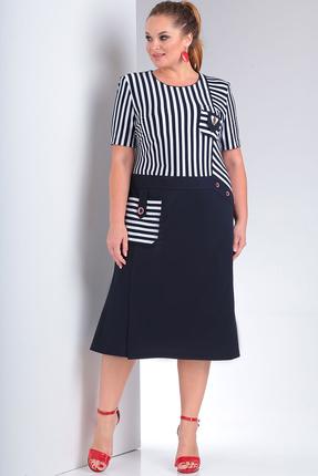 Платье Milana 233 черно-белый