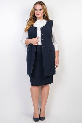 Комплект юбочный TricoTex Style 9517 т синий фото