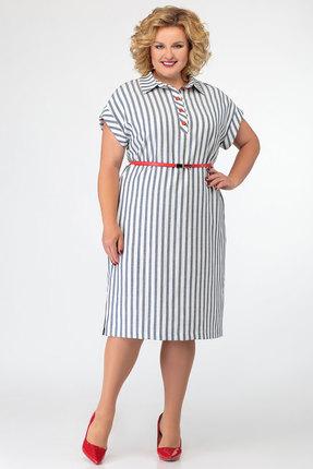 Платье SWALLOW 276 серо-белые тона
