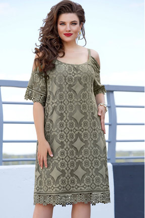 Платье Vittoria Queen 11453/1 хаки