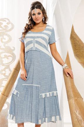 Платье Vittoria Queen 12303 голубой