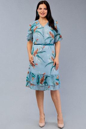 Платье Emilia 10150 голубые тона