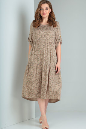 Платье Ришелье 780 бежевый