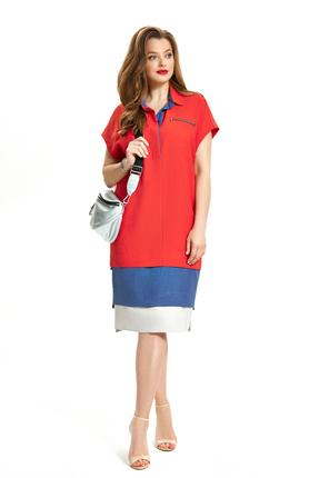 Платье TEZA 906 красный