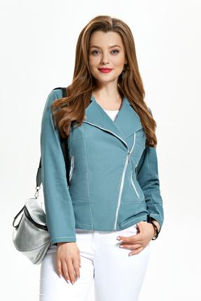 Куртка TEZA 1238 бирюзовые тона