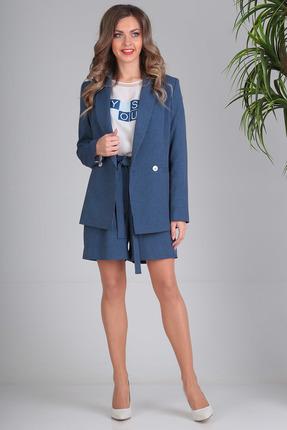 Комплект с шортами SandyNa 13691 темно-синий