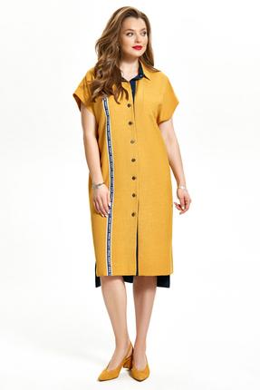 Платье TEZA 1344 желтый