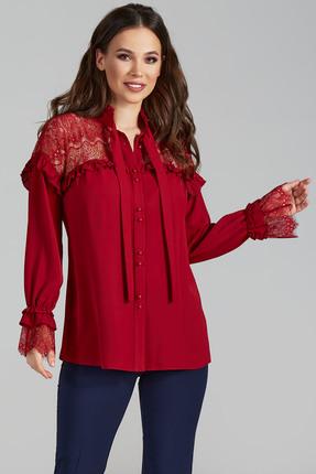 Блузка Teffi style 1473 бордовые тона
