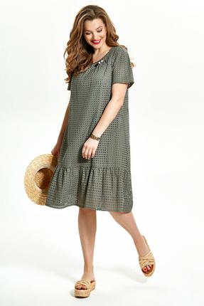 Платье TEZA 1497 хаки