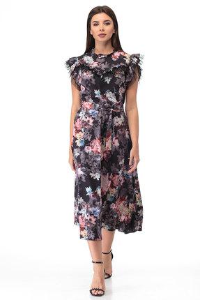Платье Anelli 862 черный с розовым