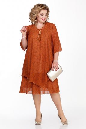 Платье Pretty 242-3 оранжевые тона