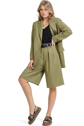 Комплект с шортами PIRS 1366 зеленые тона