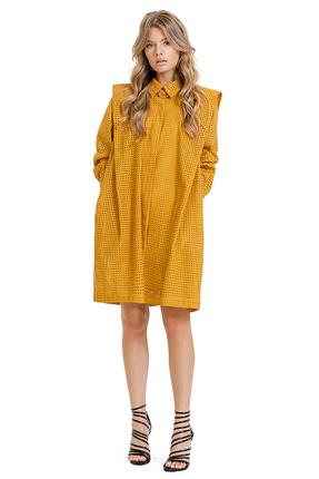 Платье PIRS 1372 желтые тона