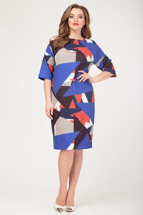 Платье Anastasia 471 синие тона
