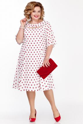 Платье Pretty 1125 молочный с розовым