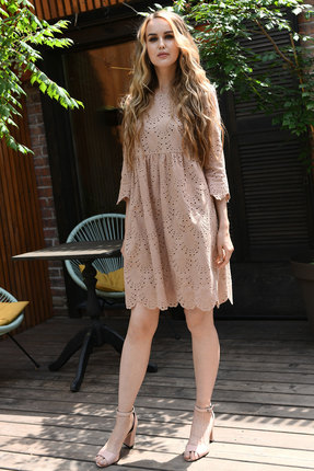 Платье Andrea Fashion AF-19-3 беж
