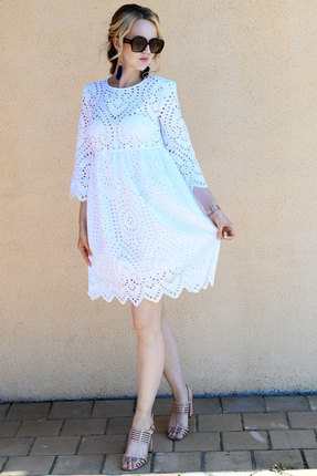 Платье Andrea Fashion AF-19-6 белые тона