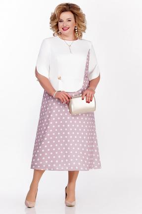 Платье Pretty 1136 розовые тона