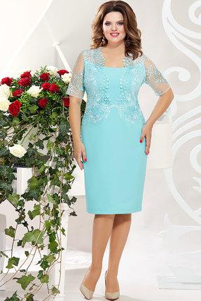 Платье Mira Fashion 4839 светло-бирюзовый