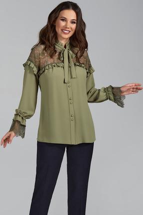 Блузка Teffi style 1473 олива