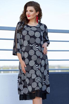 Платье Vittoria Queen 11753 черный с серым