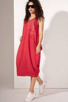 Платье Сч@стье 1013-1 красные тона