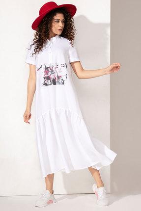 Платье Сч@стье 1014-3 белые тона