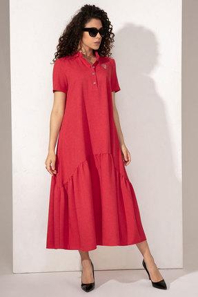 Платье Сч@стье 1014-2 красные тона