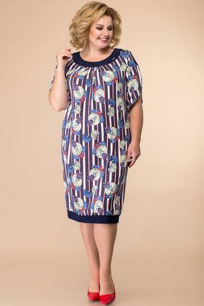 Платье Romanovich style 1-1080 синий с белым