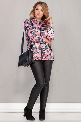 Куртка Ivelta plus 897 серый с розовым