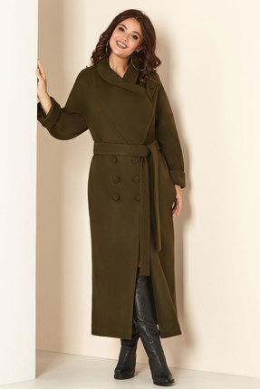 Пальто Andrea Style 00273 хаки