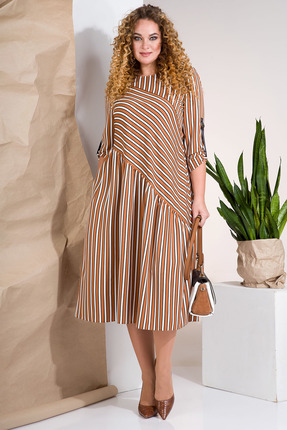 Платье Лилиана 852 коричневые тона