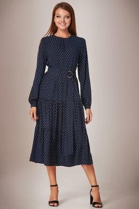 Платье Andrea Fashion AF-28/4 синий горох